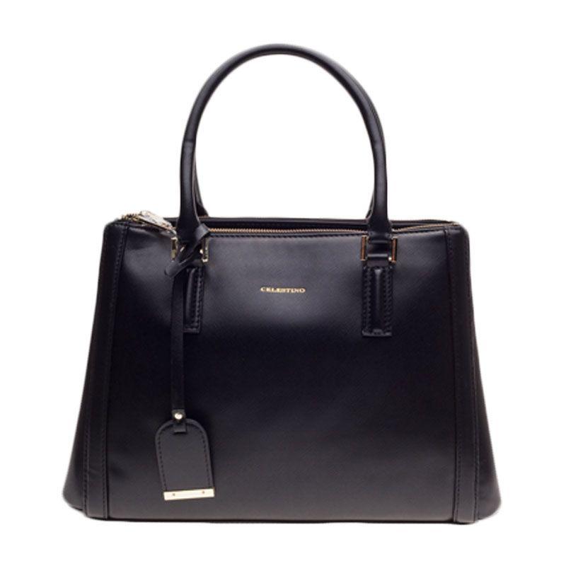 Celestino Madeline Black Tote Bag Tas Tangan [M]