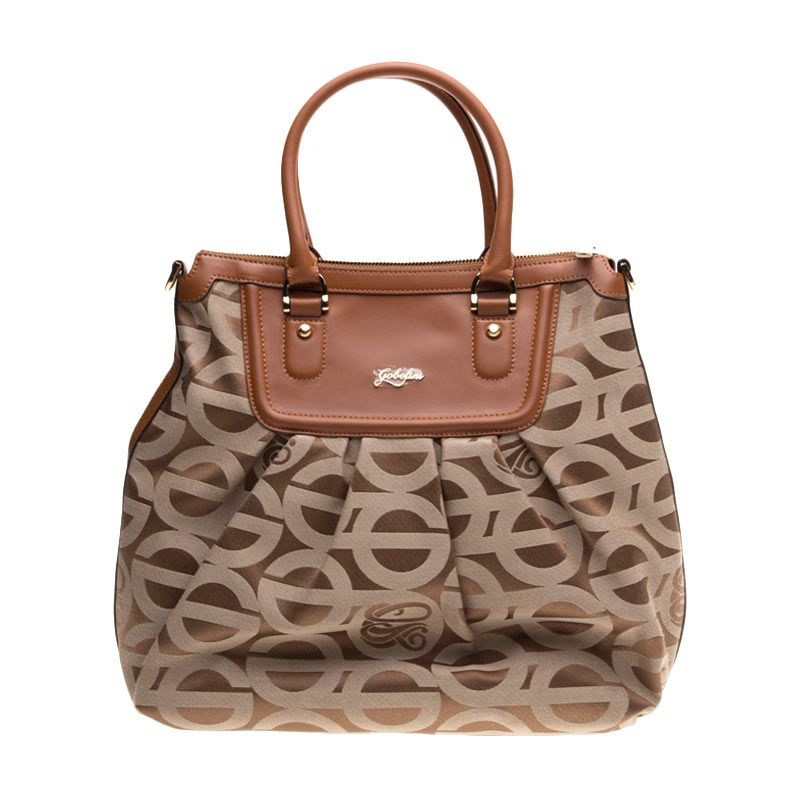Gobelini Firenze Inspired L Brown Satchel Bag Tas Tangan