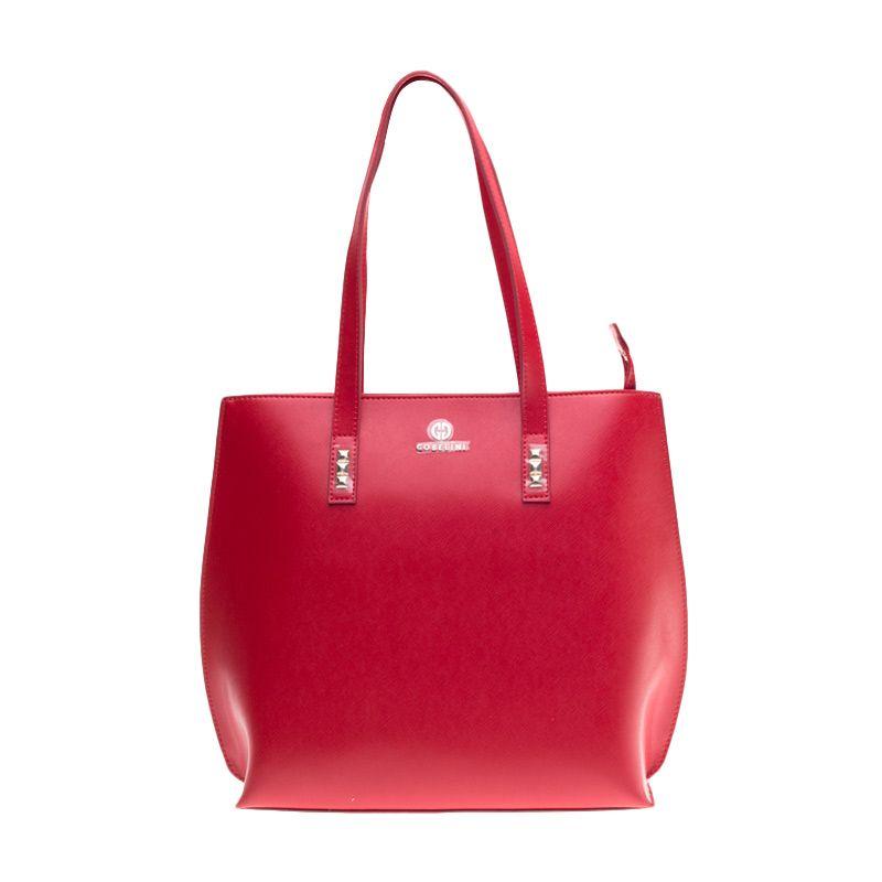 Gobelini Firenze Studs N/S Red Tote Bag Tas Tangan