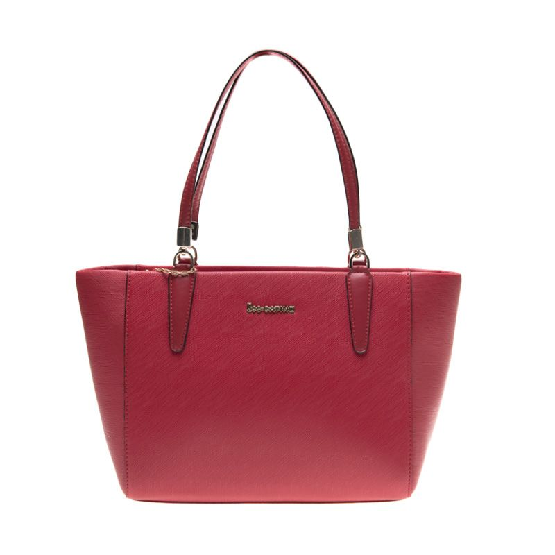 Lescatino U Arlyn Shopper S Solid Red Tas Tangan