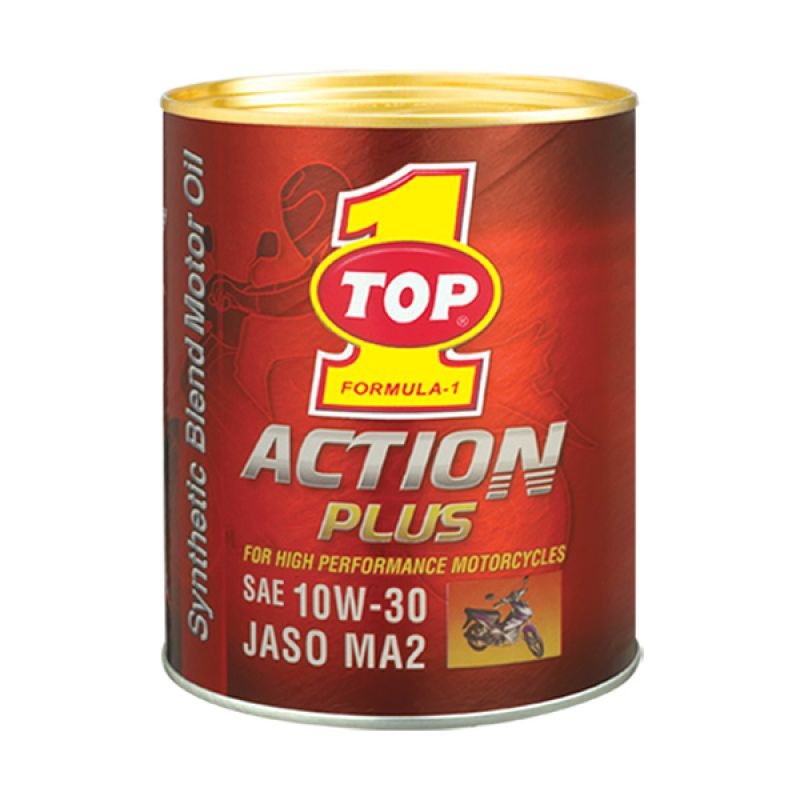 TOP1 Action Plus 10W-30 Synthetic Oil Pelumas Oli Motor [800 CC]