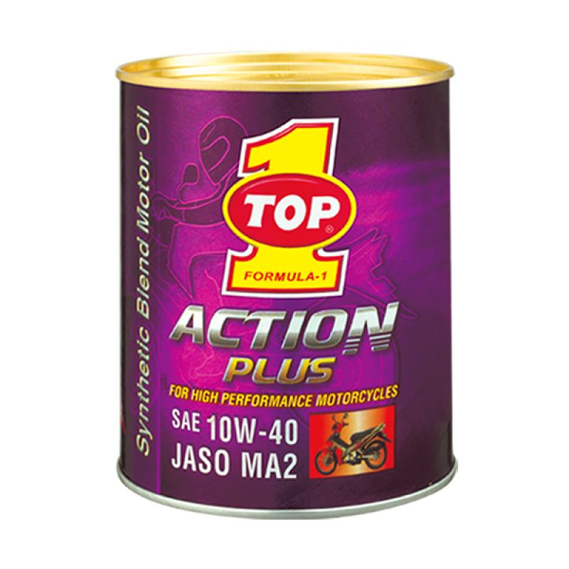 TOP1 Action Plus 10W-40 Synthetic Oil Pelumas Motor [800 CC]