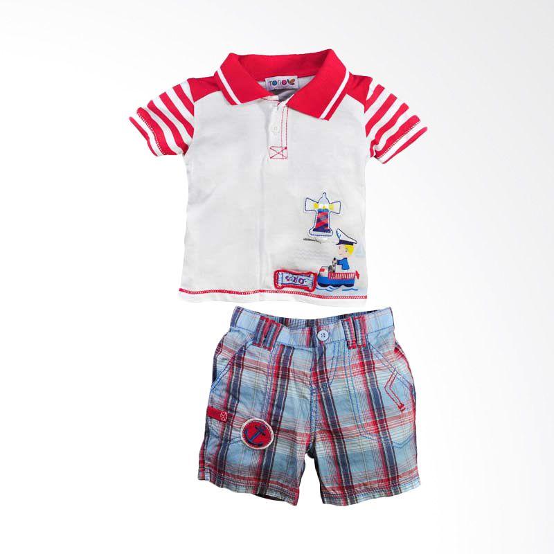 harga Torio Sailor Graphic Tee w/Bermuda Shorts Set Baju Anak Blibli.com