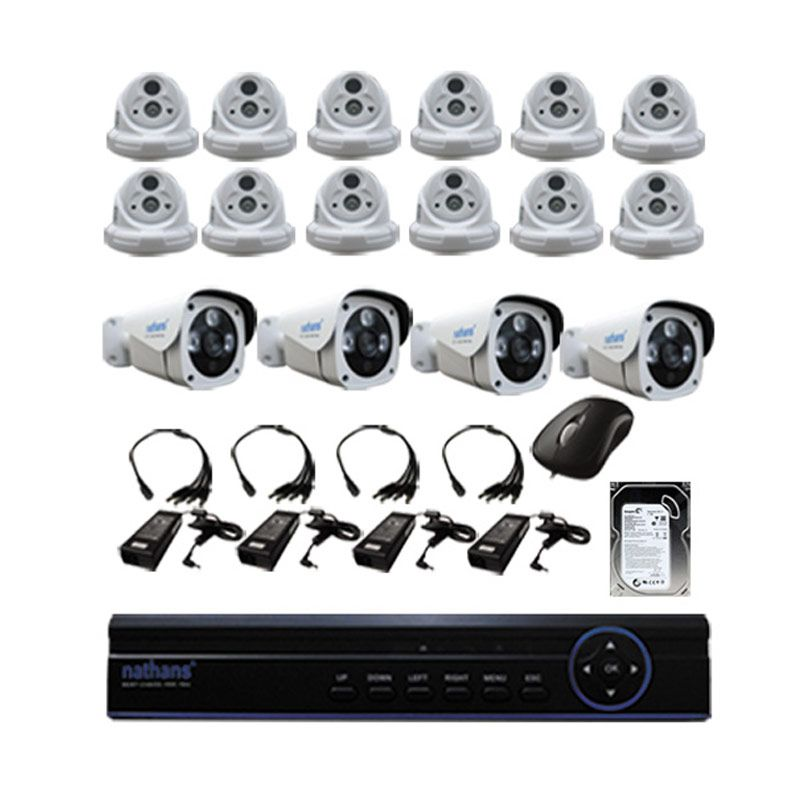 Paket CCTV Nathans 16 Channel [1.3MP] + HDD 1TB