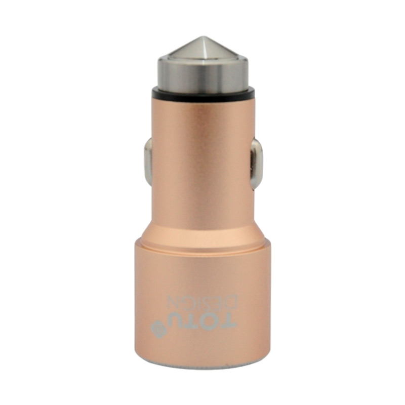 Totu Design Safty Hammer Car Charger - Gold [Dual USB/3.1A]