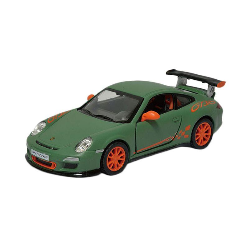 Toylogy Kinsmart Matte Porsche 911 GT3 RS Green DieCast