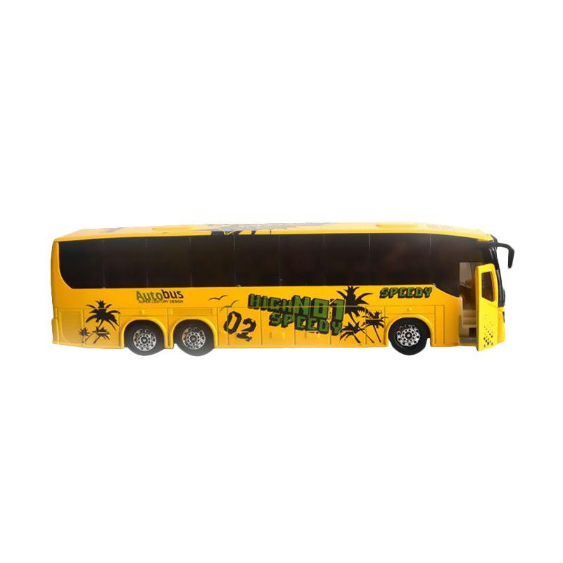DieCast Metal Bus MK-3 Yellow Mainan Anak