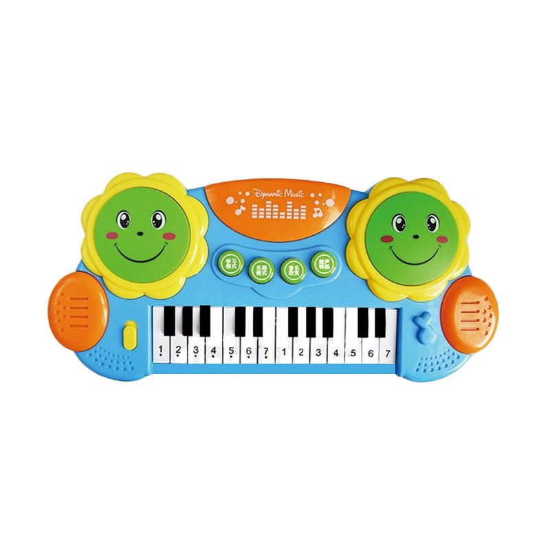 Toylogy Pat Drums and Piano 3003 Blue Mainan Anak