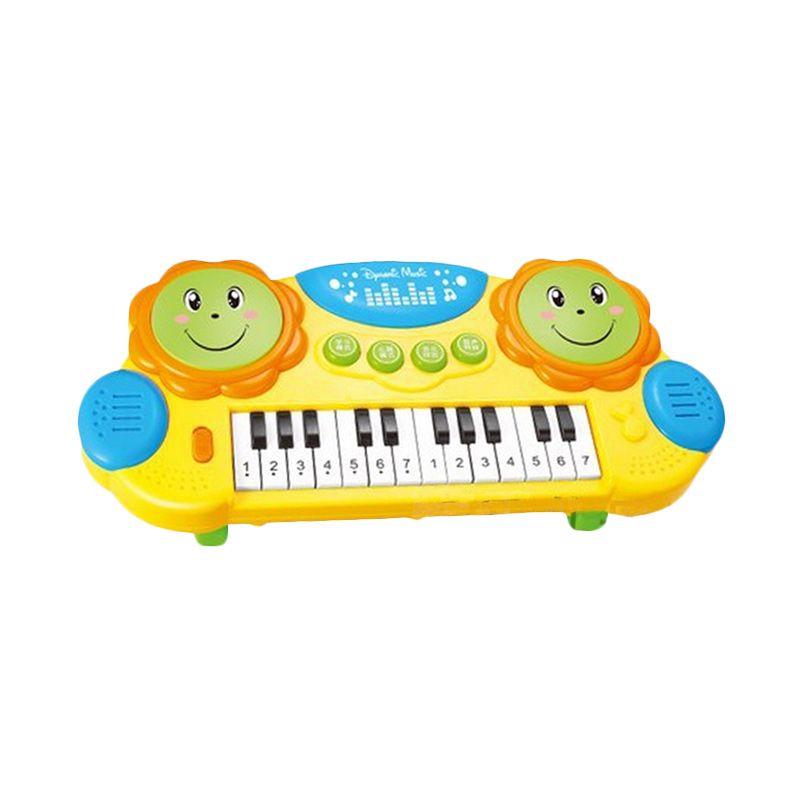 Toylogy Pat Drums and Piano 3003 Yellow Mainan Anak