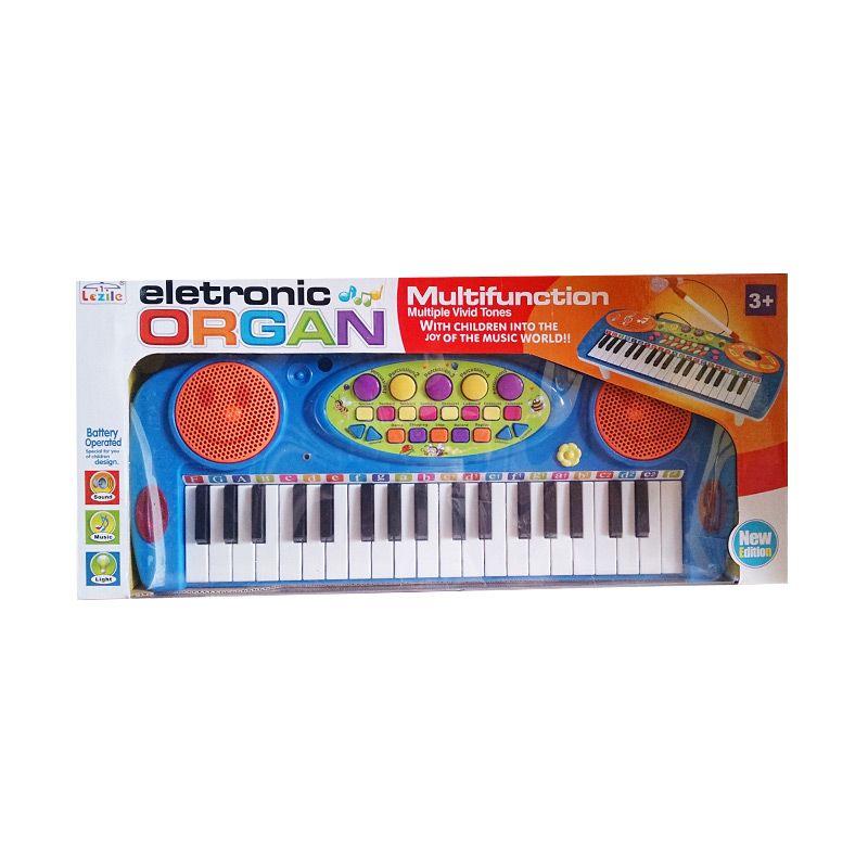 Toyogy Electronic Organ Multifunction 3702A Blue Mainan Anak