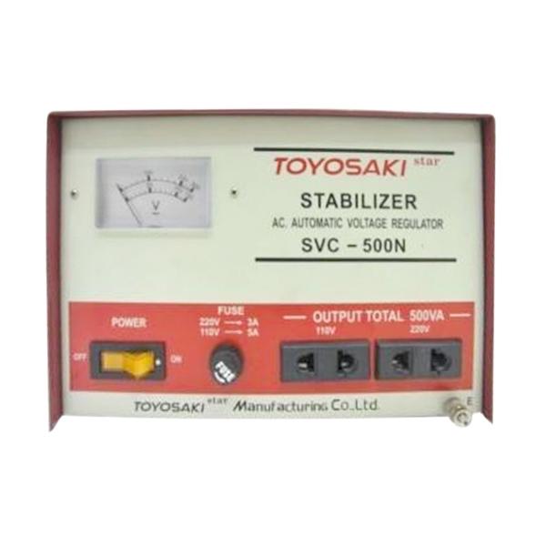 harga Toyosaki SVC-500N  Merah-Putih Stabilizer [500VA] Blibli.com
