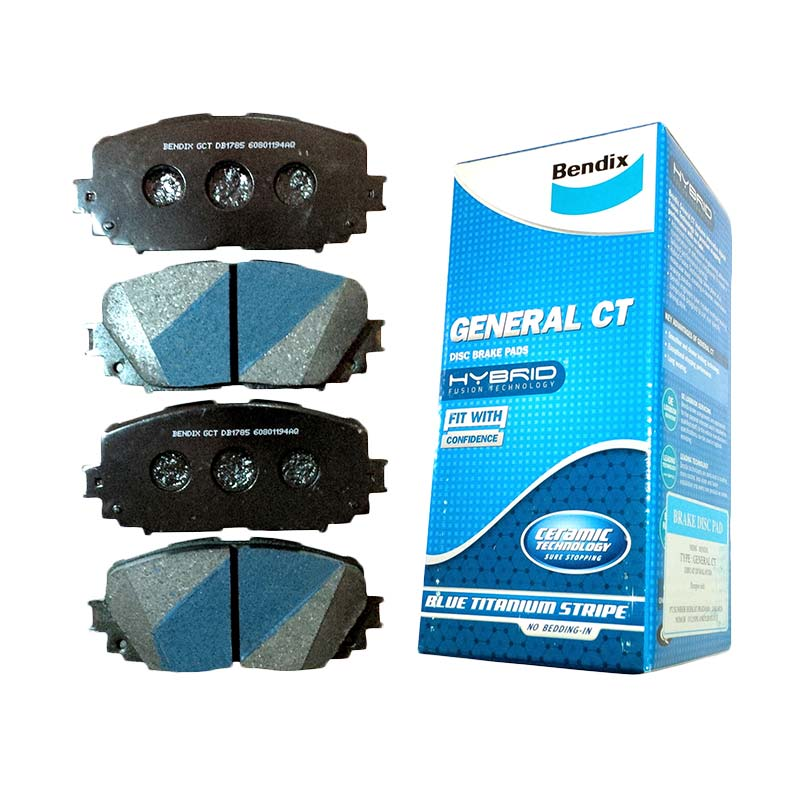 Bendix DB1739 Front Brake Pad for Fortuner 2005-2010 and Hilux 2007-2011