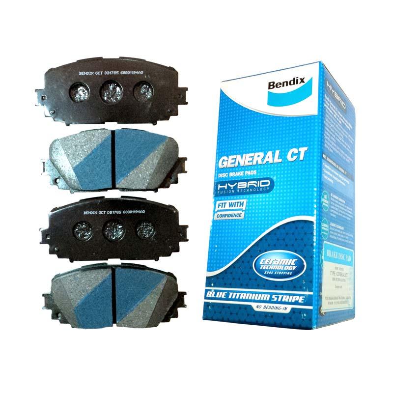 Bendix General CT Disc Brake Pads Kampas Rem Untuk Fortuner VNT dan Non VNT 2011-2015 Front DB2221