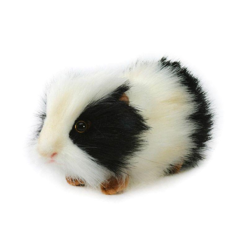 Hansa Domestic - Guinea Pig BLK WHT 19 cm Boneka Binatang