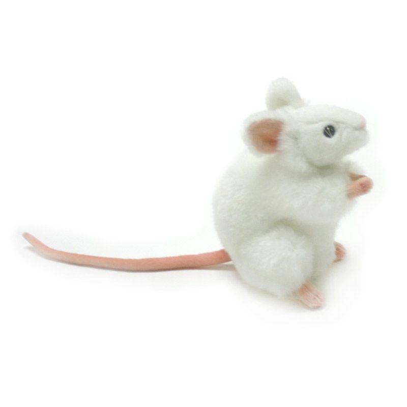 Hansa Domestic - Mouse 5323 WHT 16 cm Boneka Binatang