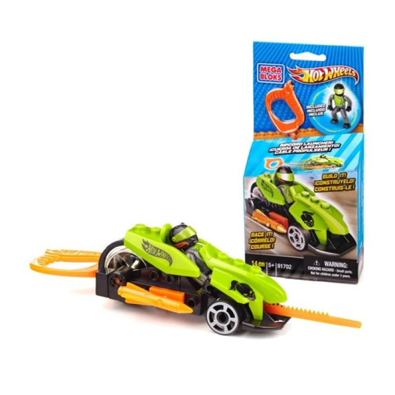 Mega Blocks Hotwheels Speed Racer Green - Mainan Rakit