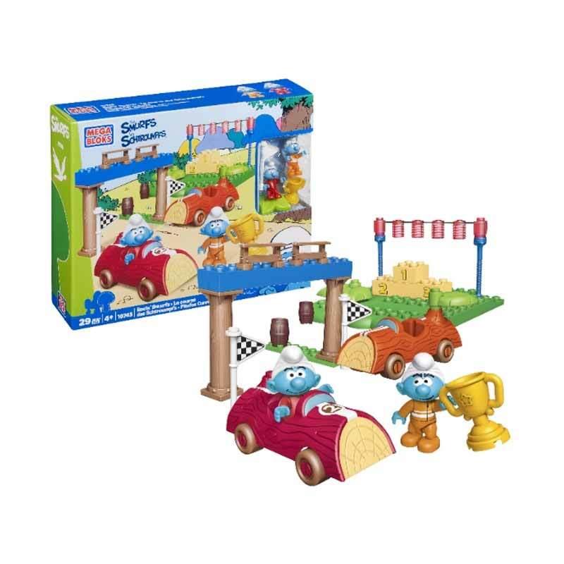 Mega Bloks Smurfs-Racing Smurfs - Mainan Anak (10745)