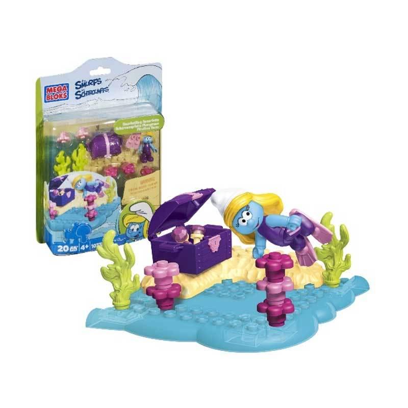 Mega Bloks Smurfs-Snorkeling Smurfette - Mainan Anak(10738)
