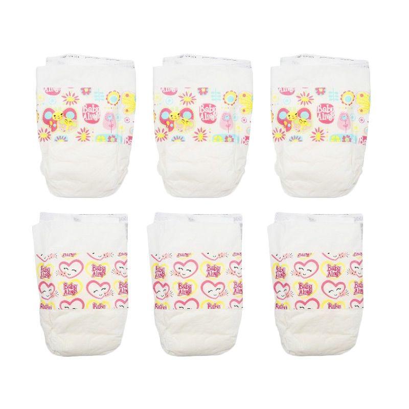 Baby Alive Diapers Pack (6pcs) Original Item