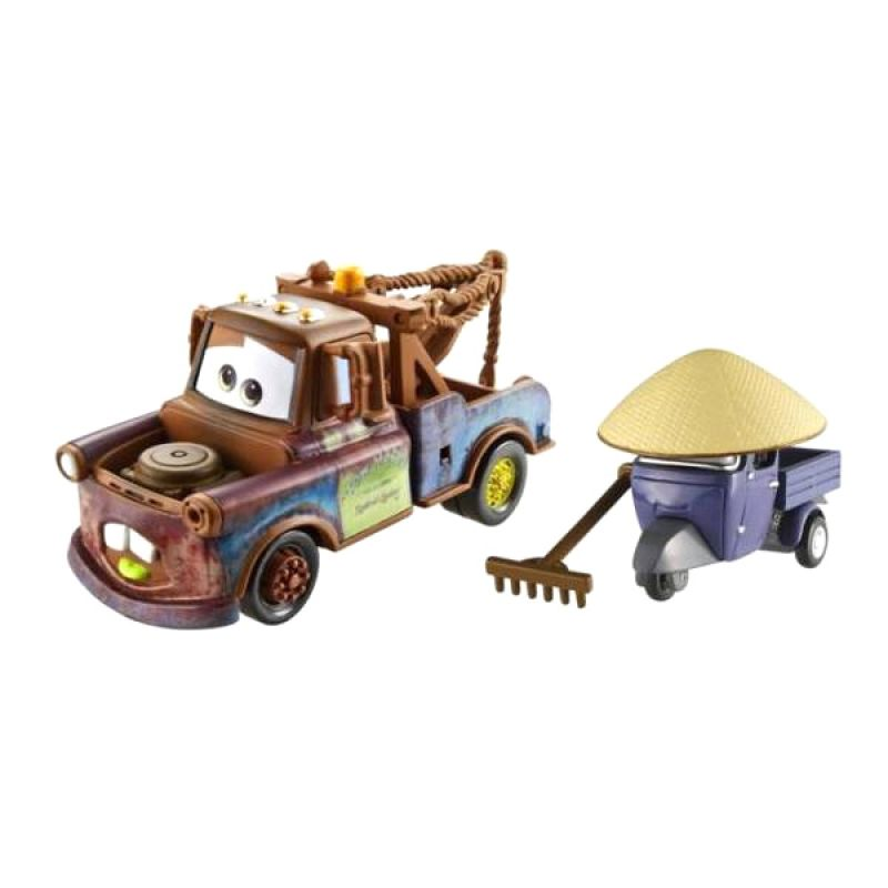 Disney Cars Die Cast Race Team Mater and Zen Master Pitty Mainan Anak