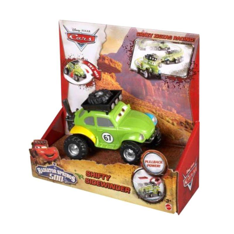Disney Cars Radiator Springs 500 Shifty Sidewinder PullBack Power Green Mainan Anak