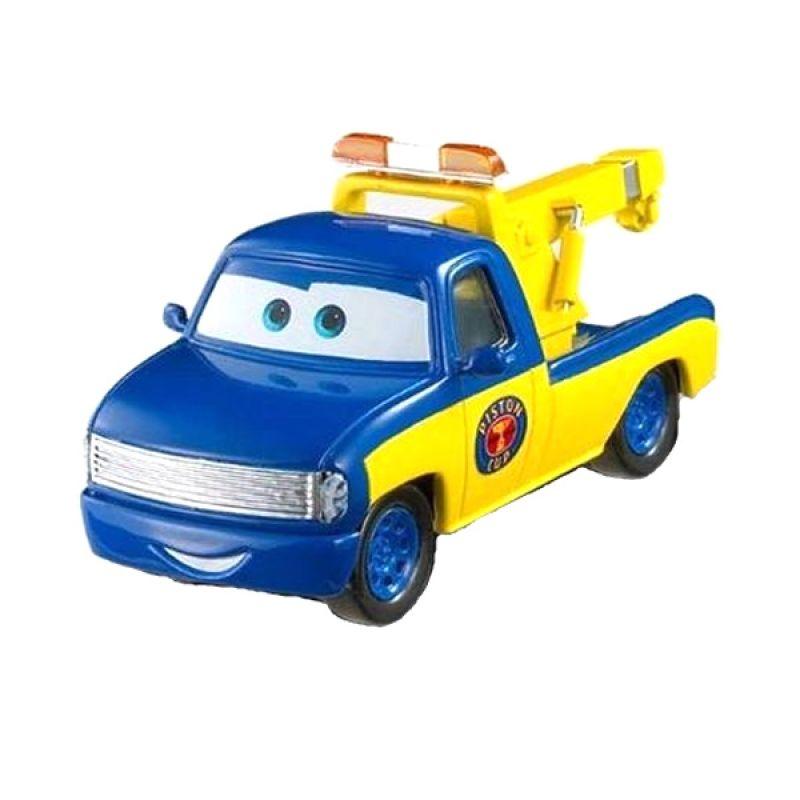 Disney Cars Single Pack Race Tow Truck Tom Biru Mainan Anak