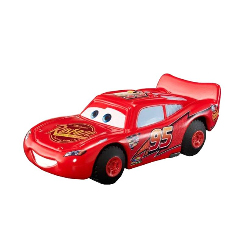Disney Cars Single Pack Stunt Racers Lightning McQueen Red Mainan Anak