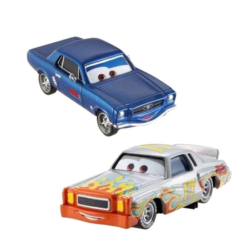 Disney Cars Darrell Cartrip + Brent Mustangburger Die Cast Original Item