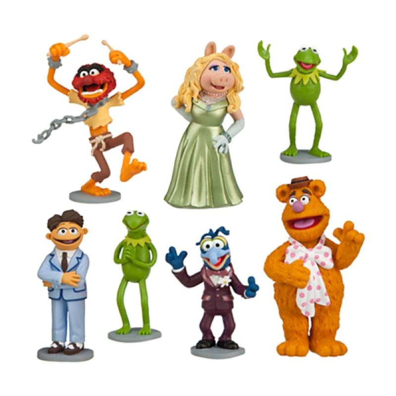 Disney Muppet The Most Wanted Figurine Playset (7 Pcs) Original Item