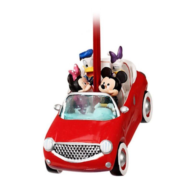 Disney Ornament Mickey Minnie Mouse & Donald Daisy Roadtrip