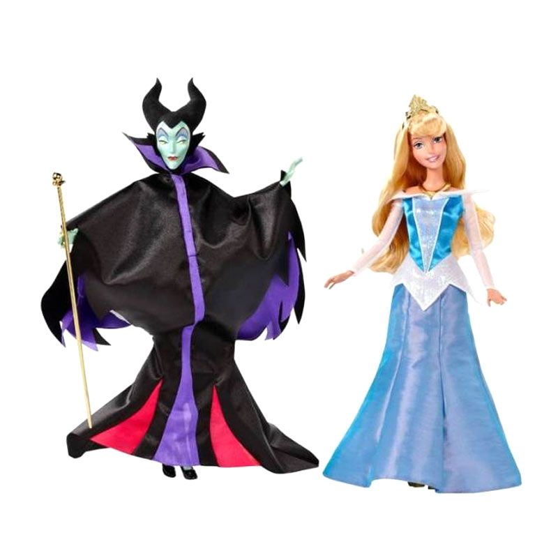 Disney Sleeping Beauty Aurora & Maleficent Doll Original Item