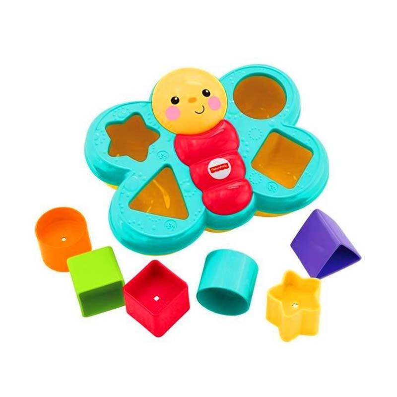 Fisher Price Butterfly Shape Sorter Activity Mainan Anak