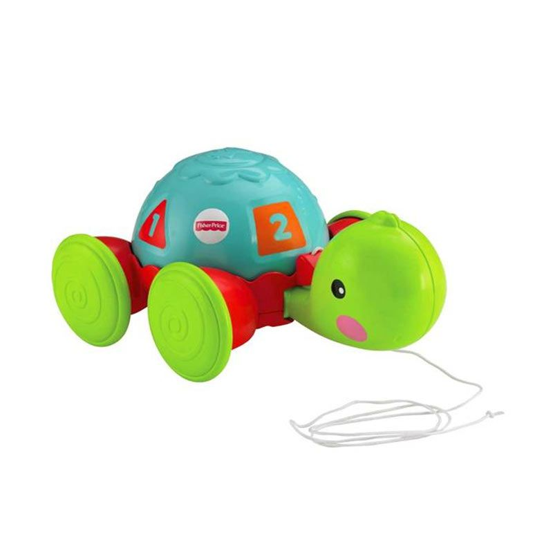 Fisher Price Pull Along Turtle Mainan Anak
