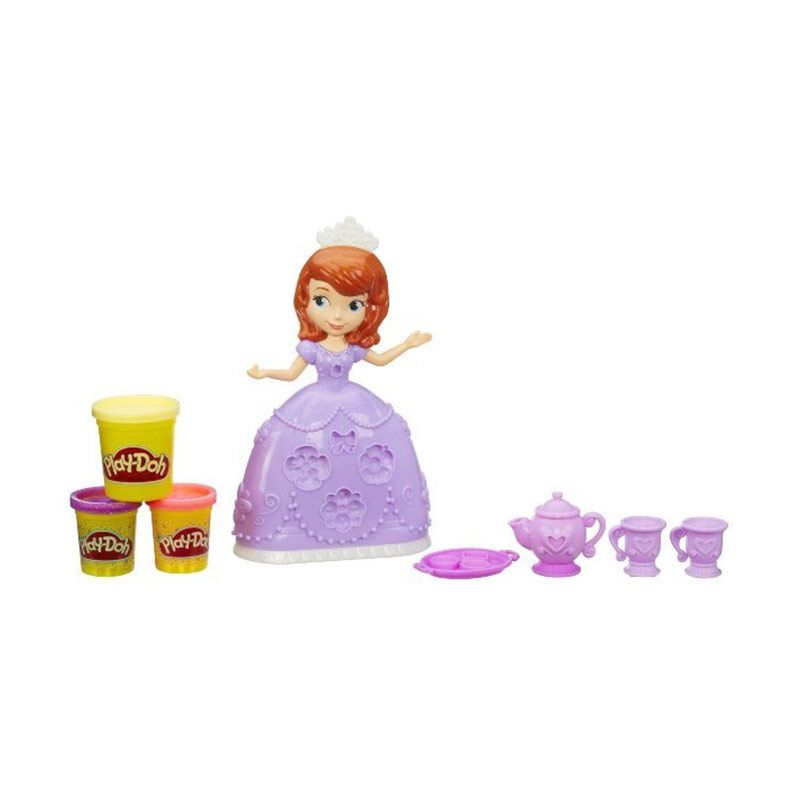 Hasbro Play Doh Disney Sofia The First Tea Party Mainan Anak
