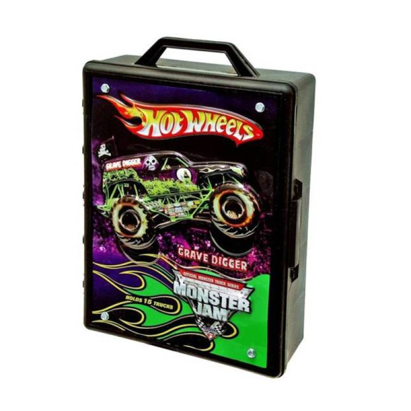 Hot Wheels Monster Jam Case for 15 Die Cast (Scale 1:64) Original Item