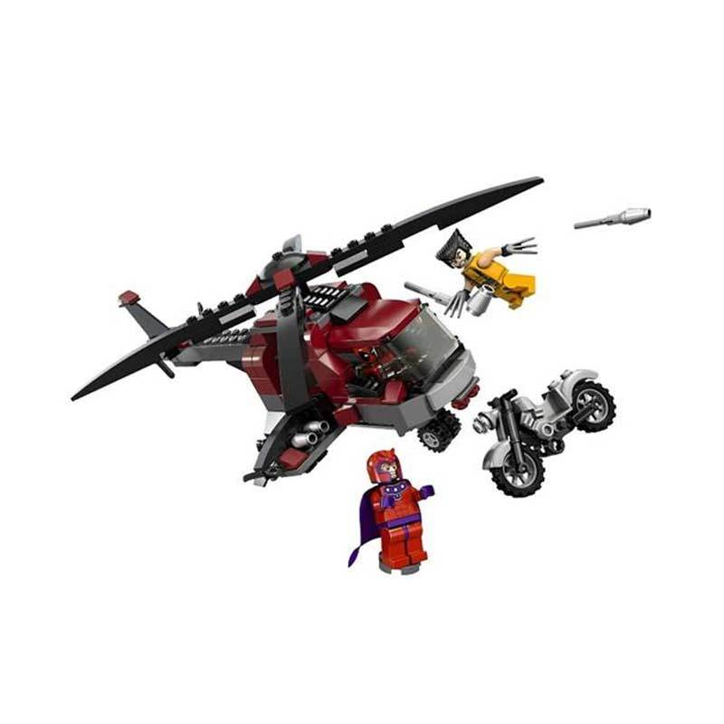 Lego 6866 Marvel Wolverine's Chopper Showdown Mainan Anak