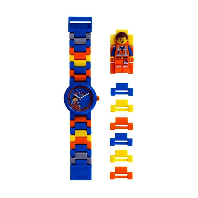 Lego Watch Lego Movie Emmet with Minifigure 9009976 Jam Tangan