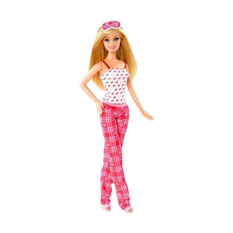 Mattel Barbie Holiday Pajama Doll Mainan Anak