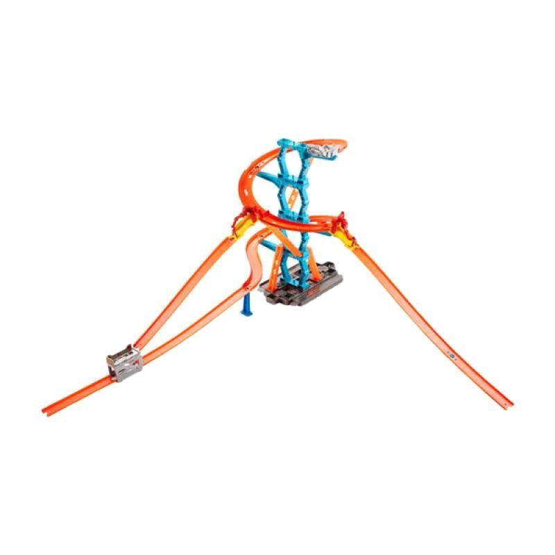 Mattel Hot Wheels Workshop Track Builder Spiral Stack Up Mainan Anak