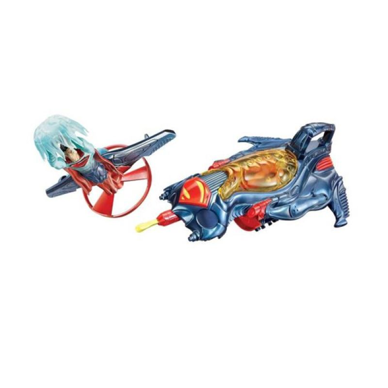 Mattel Superman Man Of Steel Strike Ship Flight Speeder Mainan Anak