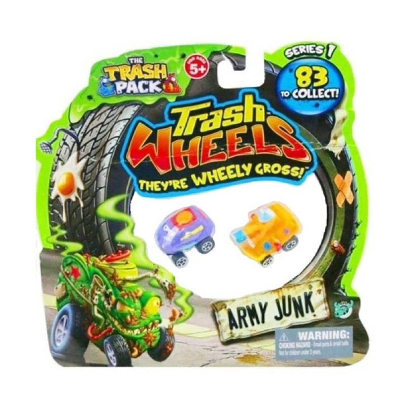 Trash Pack Wheels Army Junk (2 Pcs) Assorted Original Item