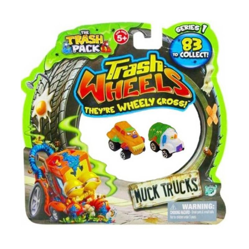Trash Pack Wheels Muck Trucks (2 Pcs) Assorted Original Item