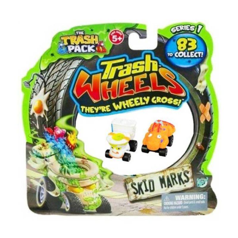 Trash Pack Wheels Skid Marks (2 Pcs) Assorted Original Item