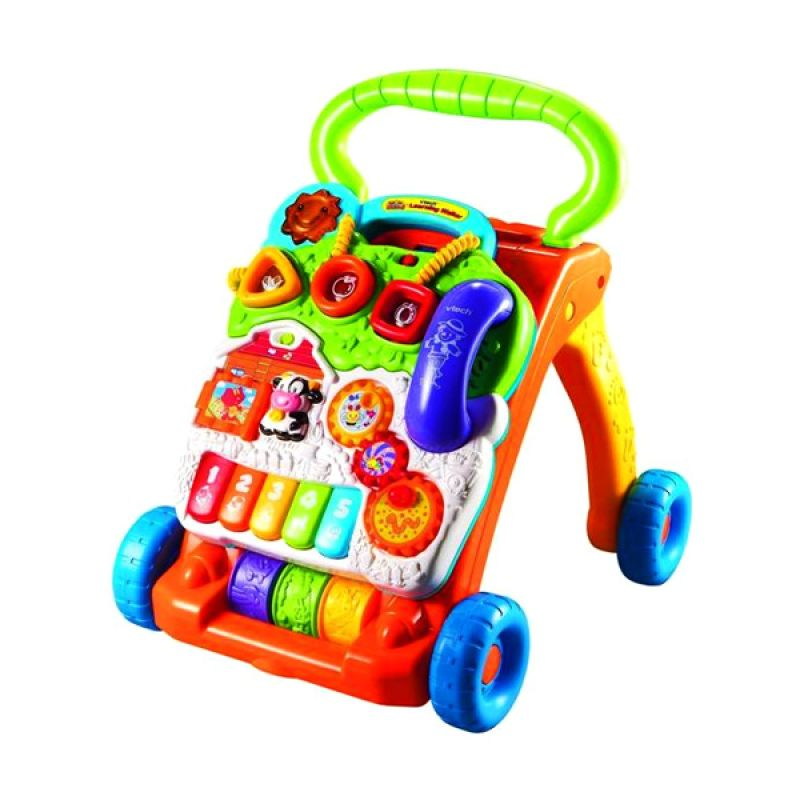 Vtech Sit To Stand Learning Walker Blue Mainan Anak