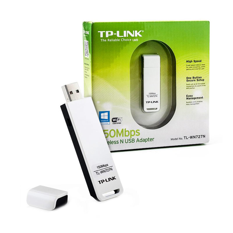 TP-LINK TL-WN727N Wireless USB Adapter [150 Mbps]