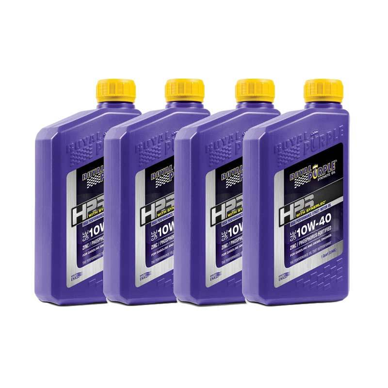 Royal Purple HPS 10W-40 Fully Synthetic Engine Oli Pelumas [4 Botol]
