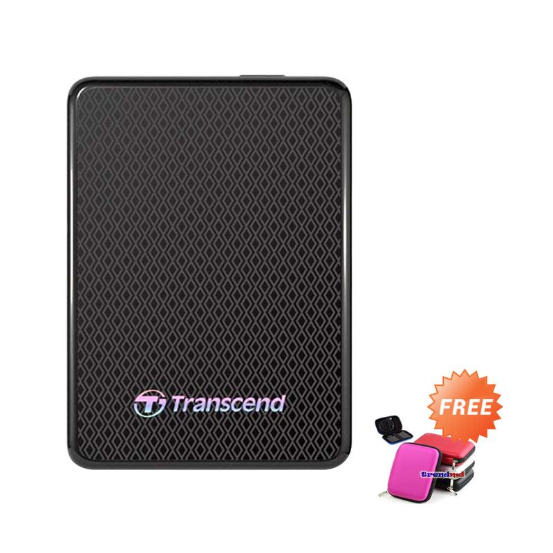 harga Transcend ESD400 Portable Hitam SSD External [1 TB/USB 3.0] + Softcase Blibli.com