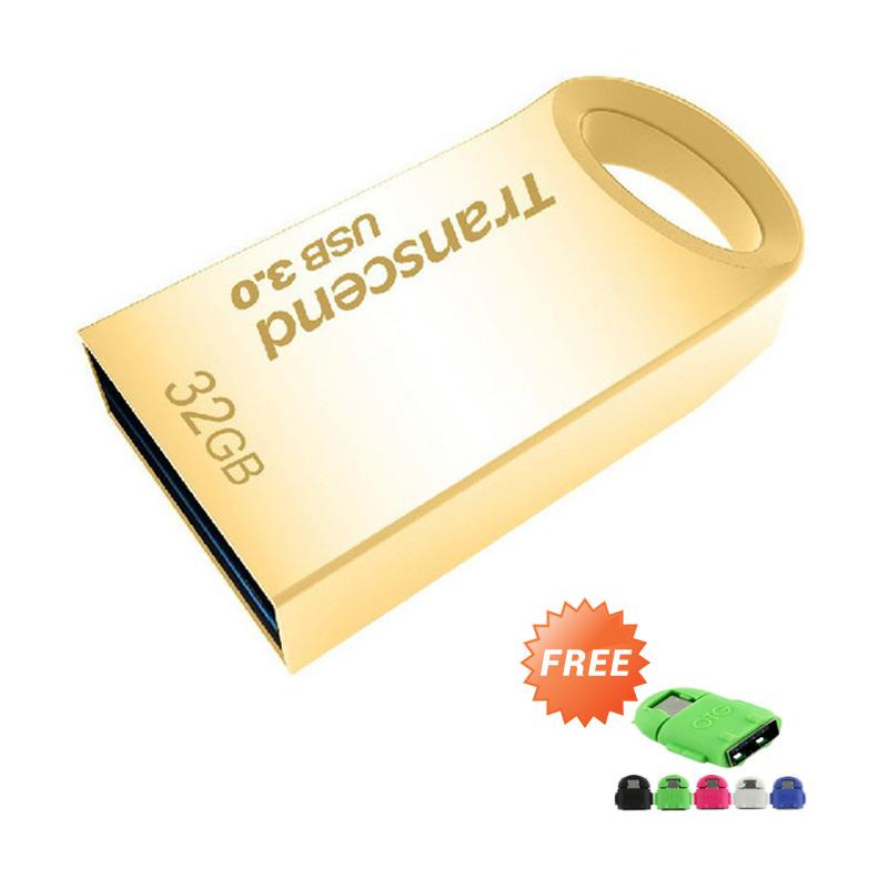 harga Transcend JF710G Flashdisk - Gold [32 GB/USB 3.0] + Free OTG Android Blibli.com