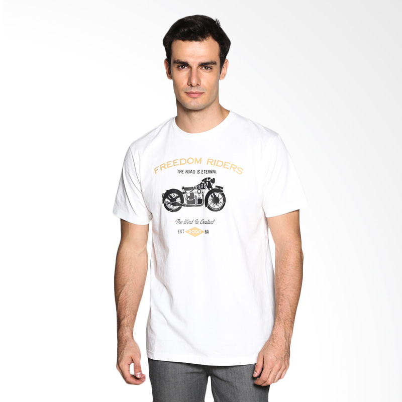 Travis Jeans Freedom Riders II TRV13M00045 T-Shirt - White Extra diskon 7% setiap hari Extra diskon 5% setiap hari Citibank – lebih hemat 10%
