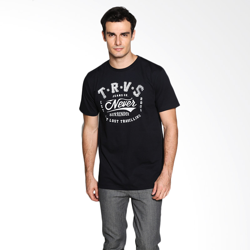 Travis Jeans Never Surrender TRV13M00040 T-Shirt - Black Extra diskon 7% setiap hari Extra diskon 5% setiap hari Citibank – lebih hemat 10%